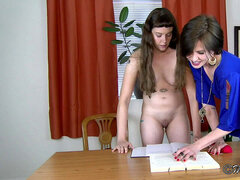 The Mortification of Belle - youthful intern stripped & fondled by mummy chief