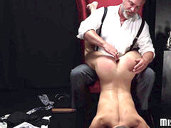 sizzling and wondrous twink loves being spanked before dildo have fun