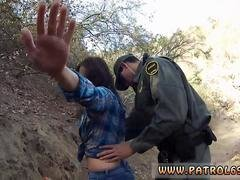 Lesbian cop strap on first time Kayla West was caught lusty patrool during border crossing