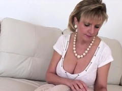 Cheating english old gill ellis reveals her massive tits