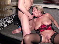 husband Share his German wifey Jenny with mate in 3some
