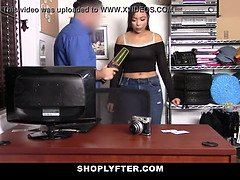 Shoplyfter - ebony bouncy butt young (Adriana Maya) lets security fuck her humid