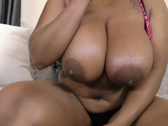 ebony dirty talk joi - big tits