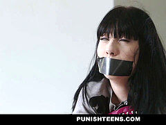 PunishTeens - nice punk Girl Kidnapped & Fucked In bootie