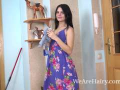 Gerda May peels off off purple dress to enjoy herself