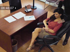 Horrible boss harasses her hot secretary Becky Bandini