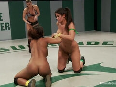 I wouldnt mind a couple of WWE Divas switching over to this.... - femdom female wrestling