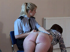 British mummy Gets large backside Spanked By Security