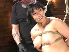 Mia lil' is tortured to tears while in stringent bondage