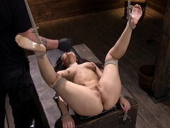 Horny female knows how to relieve stress in BDSM style