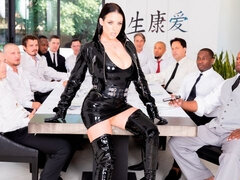 Angela White's Dark Side Her Biggest Gangbang Ever, Double Anal, Triple Penetration!
