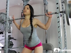 Very Hot Tia is working out very sexily