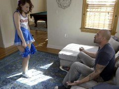 Little cheerer Harley Ann Wolf fucked with coach