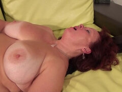 Mature slut fucking and sucking a hard cock
