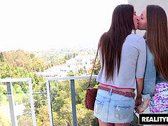 adorable lesbians (Karina white, Dani Daniels) get 4 fingers deep - Reality Kings
