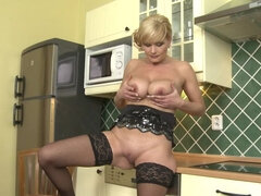 big breasted housewife fooling around