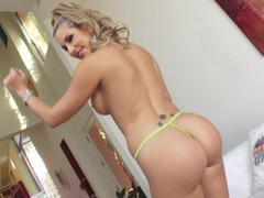 Hot blonde Sexually available mom with perfect ass deepthroats cock before sex