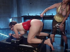 Bella Rossi vs. Iona Grace: Lesbian Pain Slut Sex Slave