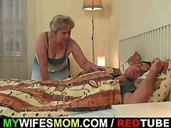 Wife becomes furious when finds him getting down and dirty her mom