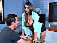 Brazzers  Sexy sexually available mom Brooklyn Chase teaches her student