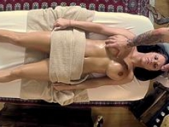 Gal drilled by masseur