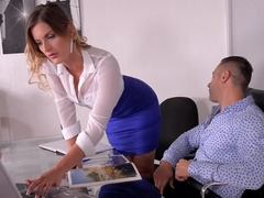 Horny Selection - Hungarian Hottie Sucks Big Cock in Office