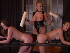 Smoking Hot: Lesbian Teens Ass Fucked By Busty Dominatrix