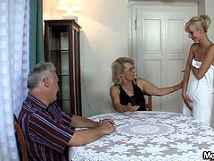 abnormal elder couple have fun with nubile
