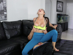 Sexy porn model receives hard fuck pole between her tiny legs