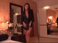 Romanian long legged dark-haired Tania loves to tease
