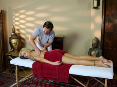 Provocative milf Nina Elle fulfills her masseur's secret fantasy
