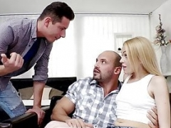 BiEmpire Stepdad and moreover Daughter Caught Fucking and moreover Fella Joins!
