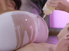 New massage technique includes contact with throbbing cock