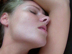 Wet blonde is worshipping deep penetration with mind-blowing enjoyment