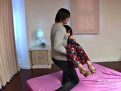 pretty asian ex lady friend Megumi got Tied up and moreover eyes cover