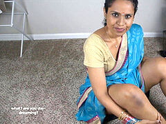 mom And StepSon pulverize While dad's Away (tamil)