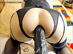 Drilling Her Tight rosy pucker With An fat fuck stick - Solo Tranny