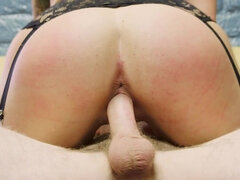 Short haired blonde likes to suck cock