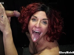 Hot MILF Daisy Stone First Glory Hole Blowjob