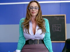 Busty teacher is fucking her co- worker