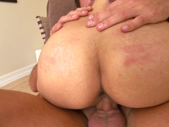 Cock-riding by Latina cutie help white fellow feel like a god