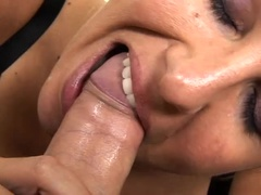 Hot MILF sucking dick