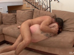 Sasha loves when her boss comes home early to fuck her and cum in her mouth