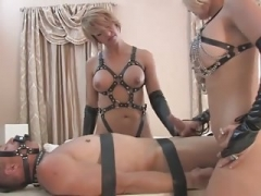 Domme Brianna and furthermore Her Friend Punish slave