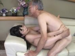 Jav Idol Ai Uehara Gets down and dirty Old Duffer On The Couch She Rides Him Hard In Many Pos Shocking Scene