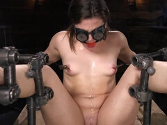 Infamous female can't resist man in black making her cum