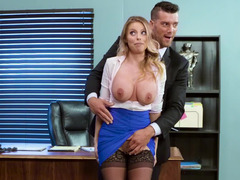Incredible Britney Amber is a secretary that satisfies her boss
