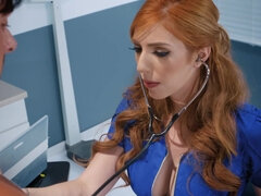 Sexy redhead doctor gets pleasantly fucked