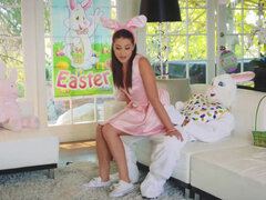 Avi Love having some upskirt fuck with her uncle dressed as Easter Bunny