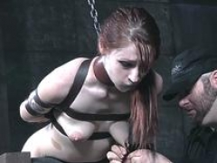 NT punished sub gets groped by master